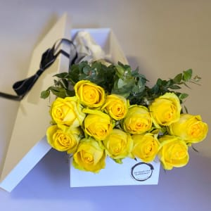 Yellow Boxes Roses